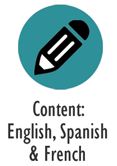 Content: English, Spanish & French